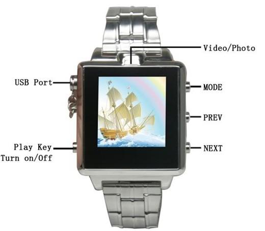 8G MP4 Spy Camera Mini DVR DV Cam Watch