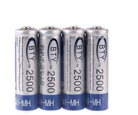New 4 x Rechargeable 2500mAh 2500 AA Ni-MH NiMH Battery