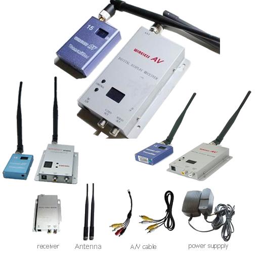 15CH Wireless 700mw CCTV A/V Transmitter Receiver