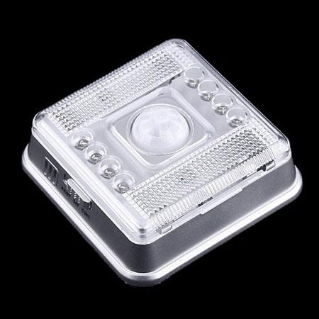 8 LED Light PIR Auto Sensor Motion Detector AA Battery