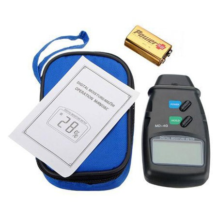 Digital 4-Pin Wood Moisture Meter Damp Detector Tester