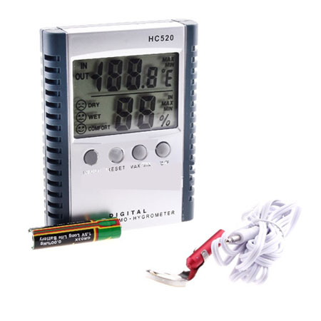 Digital LCD Indoor Outdoor Thermometer   & Hygrometer