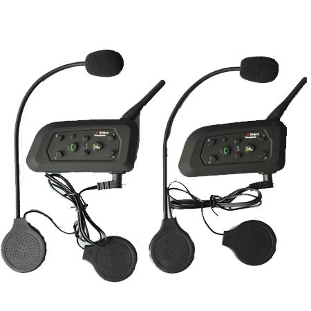 2×BT Interphone Bluetooth Motorcycle Helmet Multi Intercom headset 6 Riders