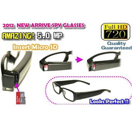 FULL HD 720P Spy Camera Glasses DVR Mini DV video recorder eyeware