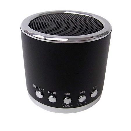 MN01 Mini Speaker TF card\MP3\USB player speakers Black Universal   3.5mm