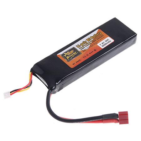 7.4V 5000mAh 30C Li-poly LiPo Li-Po RC   Battery Pack