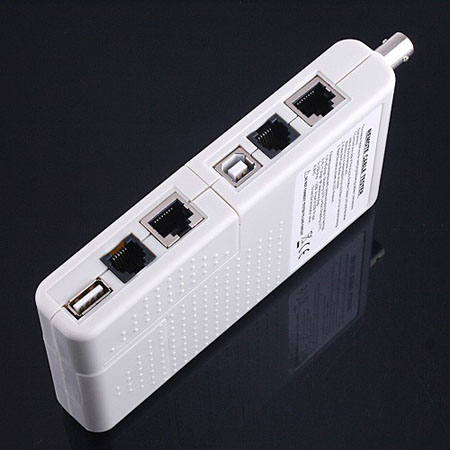 Remote RJ11   RJ45 USB BNC LAN Network Phone Cable Tester