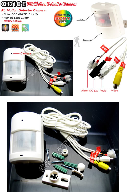 SONY CCD 420TV PIR Motion Detector Color Spy Camera