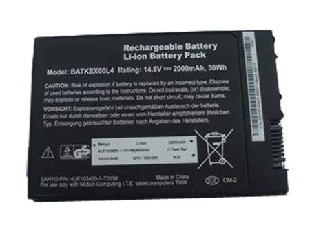 Аккумулятор / батарея (BATKEX00L4) для ноутбука Motion Tablet PC J3400 T008 Series,14.8v 2000mah/30WH
