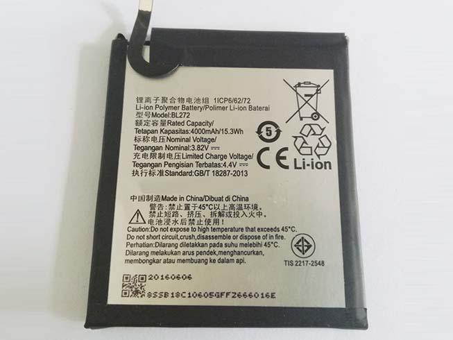 Аккумулятор / батарея (BL272) для ноутбука Lenovo Smartphone,3.8V/4.35V 4000mAh