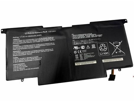 Аккумулятор / батарея (C22-UX31) для ноутбука ASUS UX31 UX31E Ultrabook Series,7.4V 6840mAh