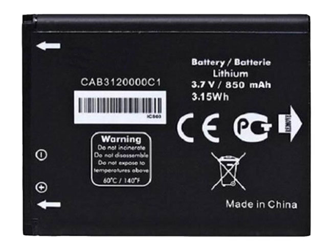 ALCATEL CAB3120000C1 3.7V 850mah/3.15Wh