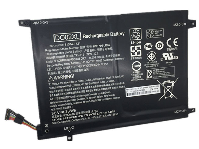 HP DO02XL 3.8V 33Wh