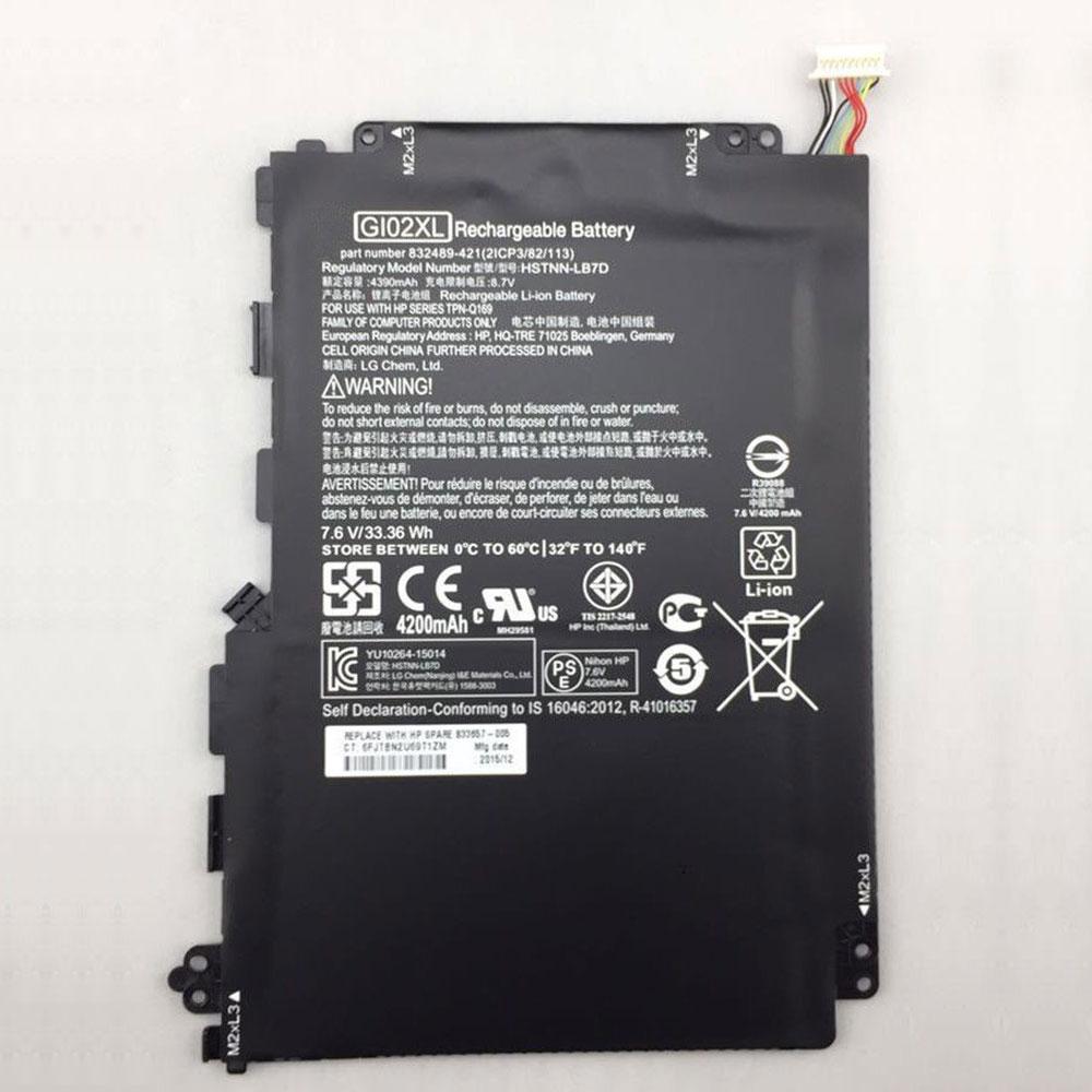 HP HSTNN-LB7D 7.6V/8.7V 4200mAh/33.36WH