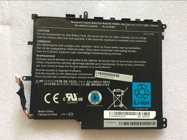 TOSHIBA PA5029U-1BRS 11.1V 2700mah/32Wh