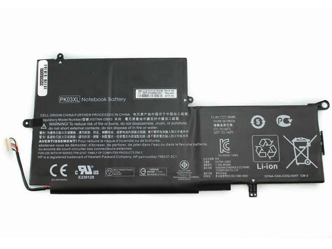 Аккумулятор / батарея (PK03XL) для ноутбука HP Spectre Pro X360 Spectre 13,11.4V 56Wh