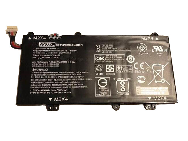 HP SG03XL 11.55V 61.6Wh/5150mAh