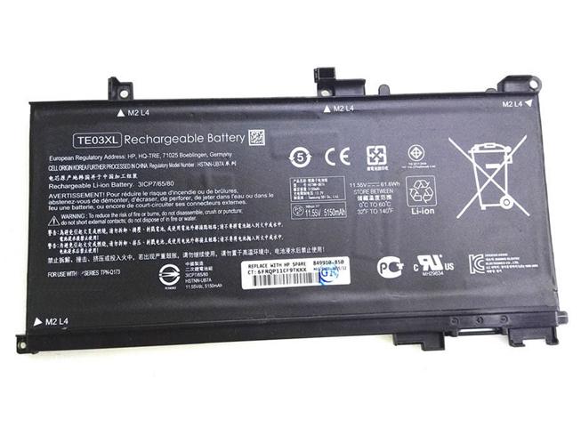 Аккумулятор / батарея (TE03XL) для ноутбука Hp Pavilion 15 UHD,11.55 V 61.6Wh