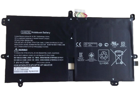 Аккумулятор / батарея (TPN-P104) для ноутбука HP DA02XL 664399 1C1 Series,7.4V 2800mah